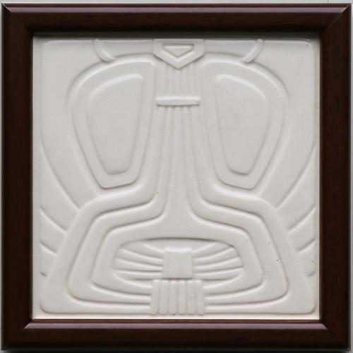 c.1910 NSTG German modernist tile, framed