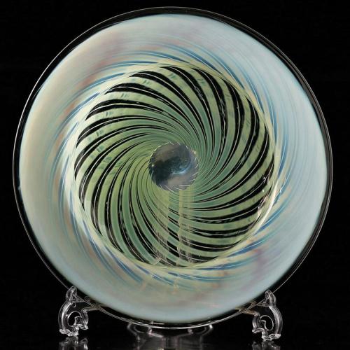 c.1900 Vaseline uranium glass bowl, probably James Powell