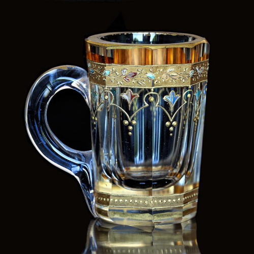 c.1885 Moser enamelled miniature glass stein