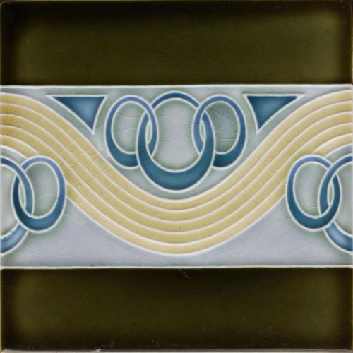 c.1905 DT AG German Art Nouveau Tile