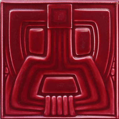 c.1910 Modernist Stylised Aztec Tile, Wessel, Germany