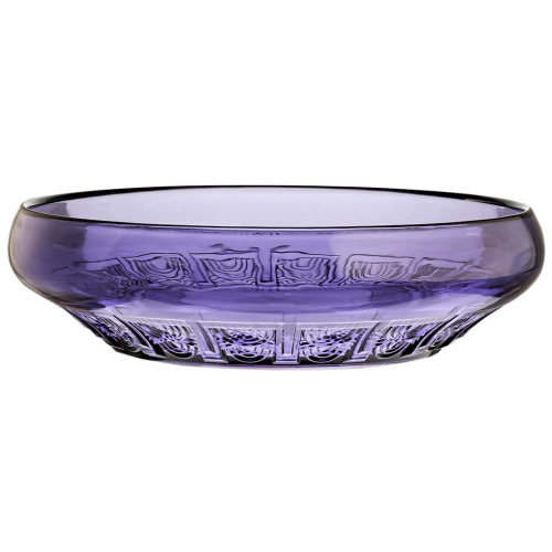 c.1935 Val St. Lambert Luxval Violet Moulded Glass Bowl