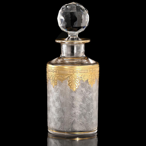 c.1910 St. Louis Gilded Crystal Scent Perfume Bottle