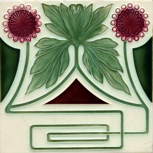 c.1905 NSTG German Art Nouveau Tile