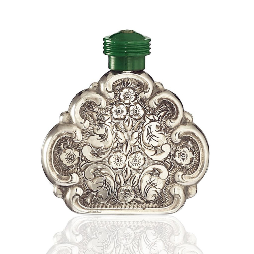 c.1930s Czechoslovakian Bright Cut 835 Silver Scent Perfume Bottle