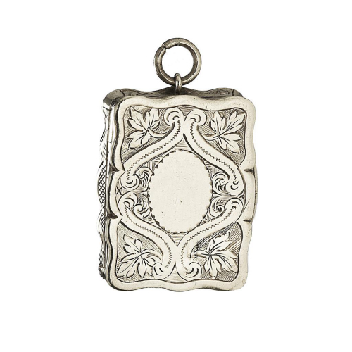 1875 sterling silver vinaigrette, Hilliard & Thomason