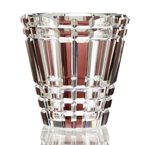 c.1930s Val St. Lambert Prune to Clear Fakir Crystal Vase