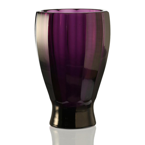 c.1920s Bohemian Amethyst Glass Vase, probably Fuhr