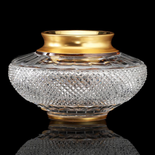 c.1960s Ernestine Crystal Flower Bowl by Josephinenhütte