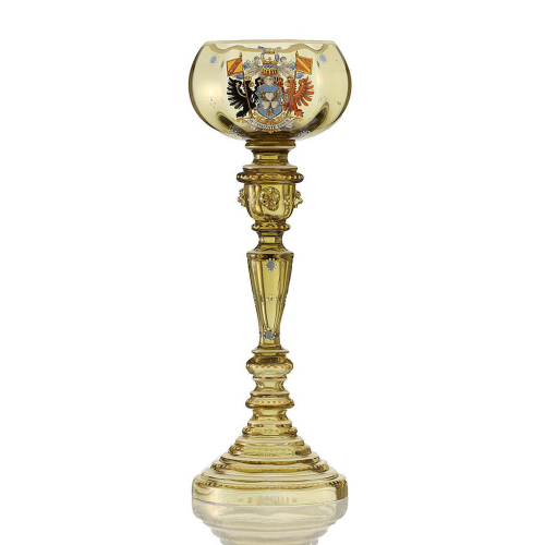 c.1890 Otto von Bismarck Enamelled Armorial Wine Glass