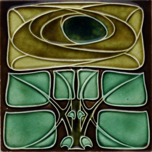 c.1905 Richards Art Nouveau Tile in the Mackintosh Style