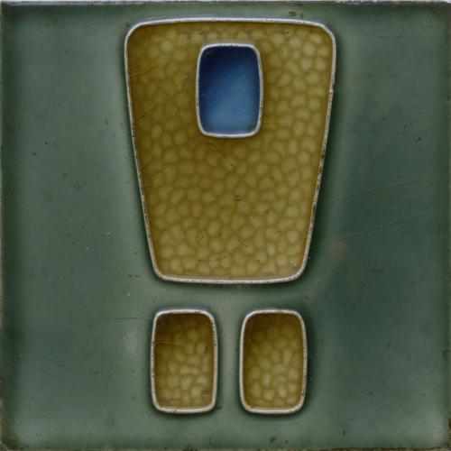 c.1910 German Modernist Tile, Tonwerk Offstein