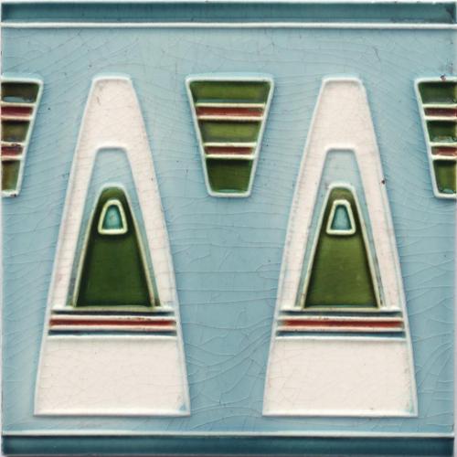 c.1910 Georg Bankel Modernist Tile