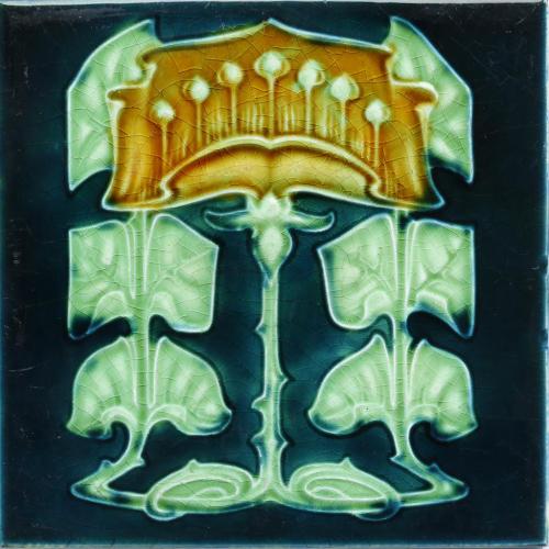 c.1905 English Art Nouveau Tile, Henry Richards