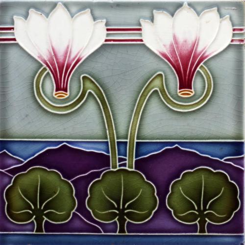 c.1905 Osterath German Art Nouveau Tile