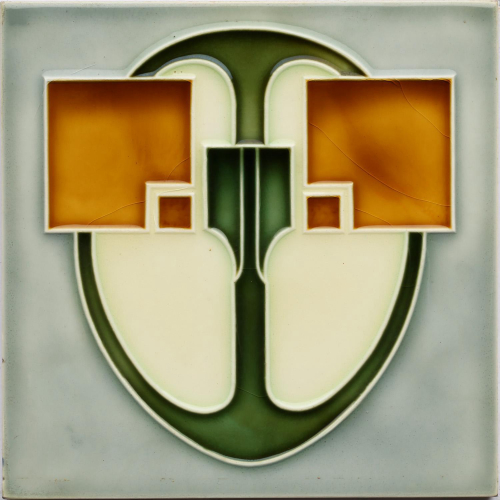 c.1905 NSTG German Art Nouveau Tile #2