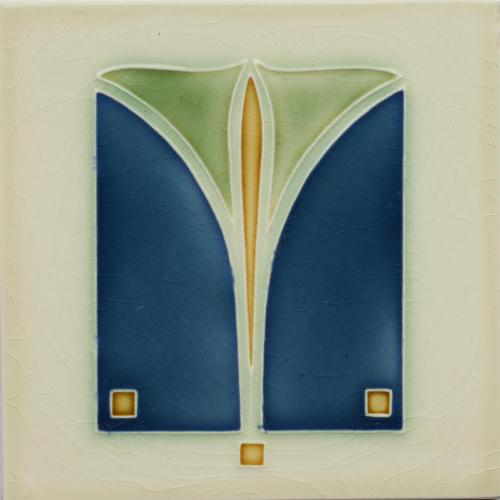 c.1910 German Modernist Tile, DT A.G.