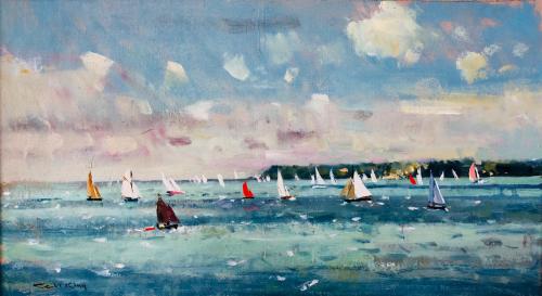 Sailing off Lepe