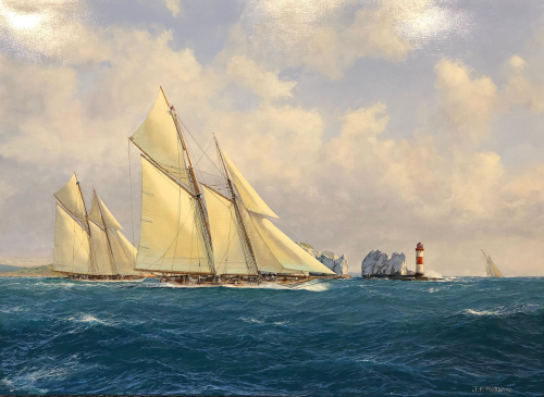 """""""Off The Needles"""" - Schooners Suzanne & Cicely"""