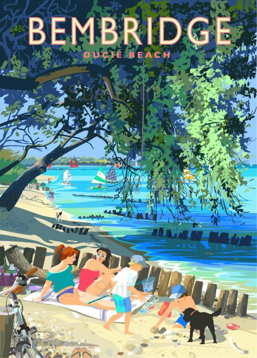 Bembridge Ducie Beach - small framed