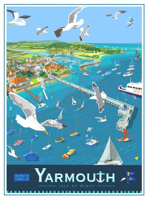 Yarmouth Pier - small framed