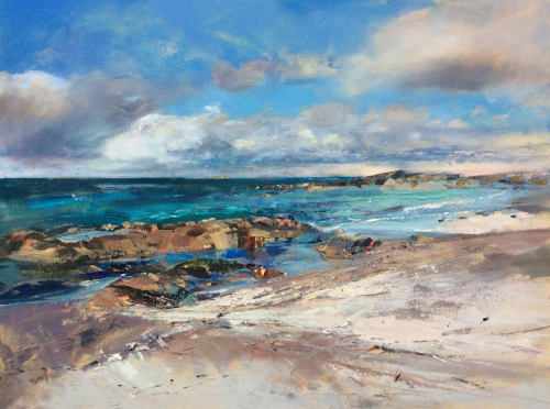 Summer Skies, the Beach at the Seat, Iona