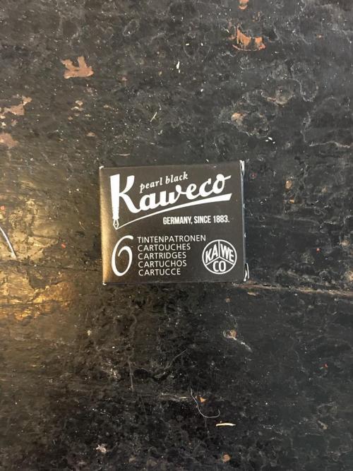 Kaweco Pearl Black Ink Cartridges 6pk