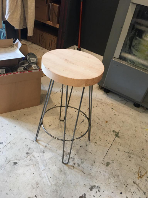 Metal/Wood Bar Stools