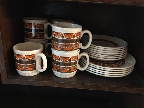 Orange/Cream tea set 3pcs (x7)