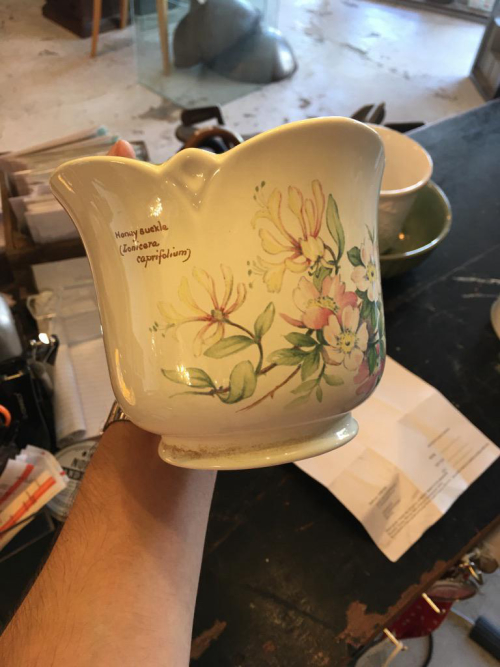 Small Ornate Painted Pot