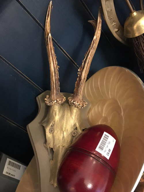 """Antlers """"clay with gold wax"""""""