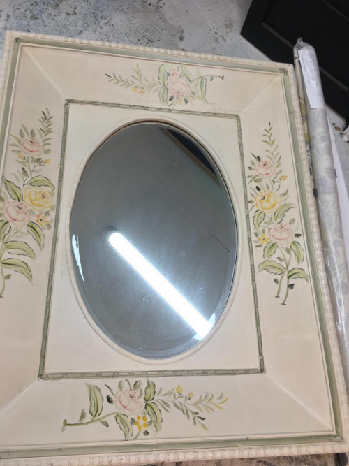 Oval Mirror in Large Frame
