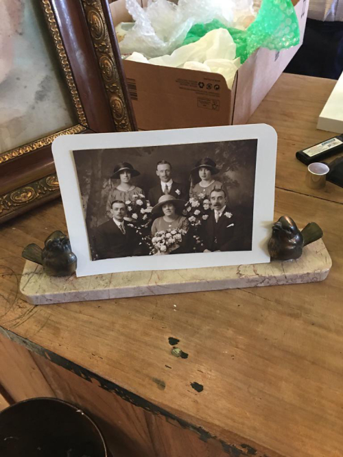 French Deco Sparrow Picture Frame