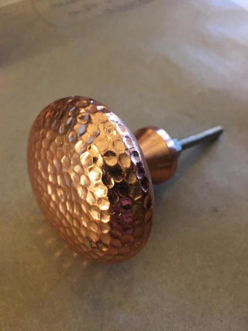 Large Hammered Copper Knob