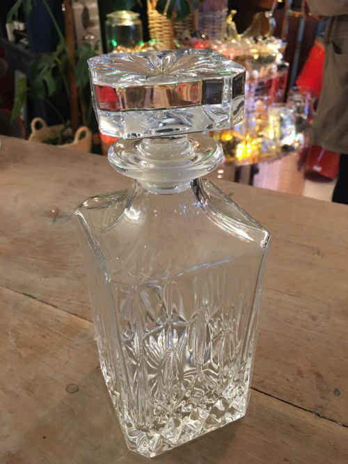 Crystal Glass Decanter Square Topper