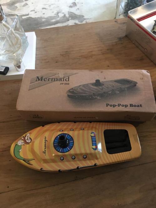 Retro Pop-Pop Mermaid Boat