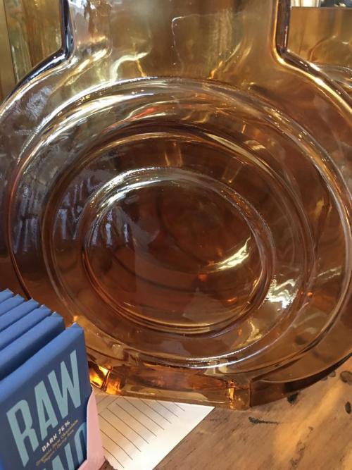 Round Amber Vases