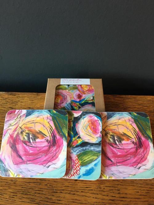 Local Artist Ali Macki Coasters 4pk