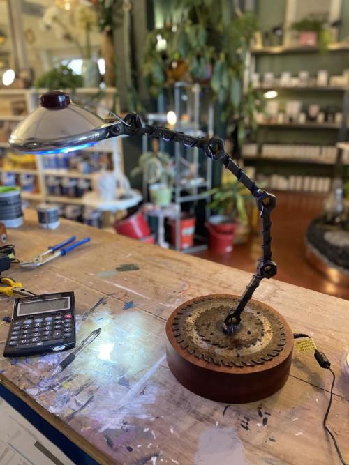 Vintage Car Light Table Lamp
