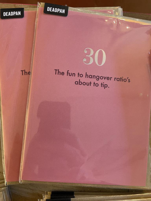 The fun to hangover ratio's about to to tip 30th Birthday Card