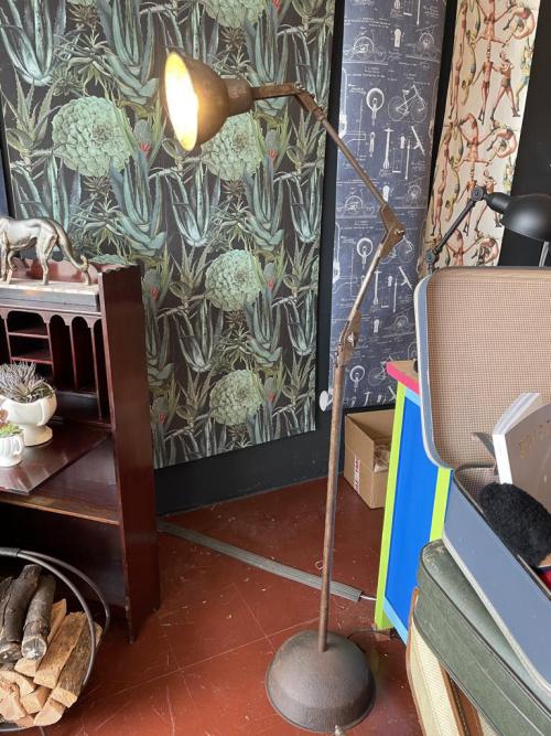 Antique Iron Anglepoise Floor Light
