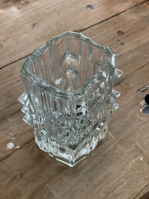 Glass Spined  Vase