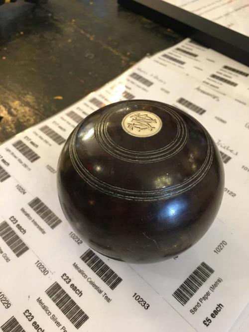 lignum vitae bowls ball