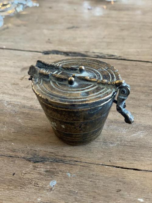 Brass Pot of Weights