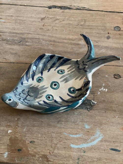 Painted Fish Plate