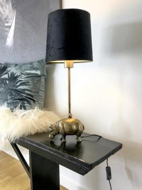 Hippo Table Lamp Vanilla Fly