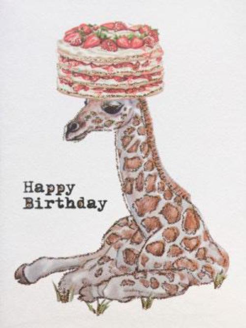 A6 Thank You Giraffe Vanilla Fly : 10K171