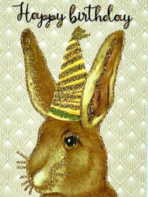 A6 Happy Birthday Hare Vanilla Fly : 10K240