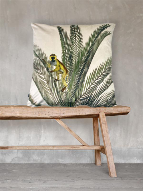 'Palm Monkey' Cushion LA103