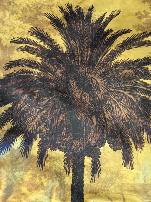Mustard Palm Cushion